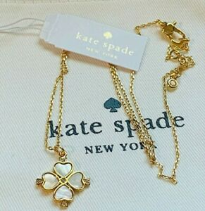 Kate Spade New York White clover necklace Free Shipping