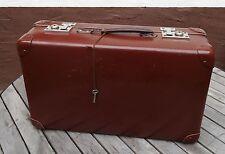vintage suitcase - Antiker brauner Hartpappe Oldtimer Reisekoffer Koffer ~30er