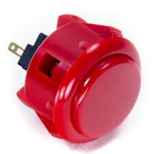 Sanwa Obsf-30mm Snap-in Button-Red-Oem
