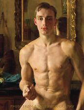 "Nude Man The Boxer 8.5x11"" Photo Print, Naked Male Konstantin Somov Painting Art"