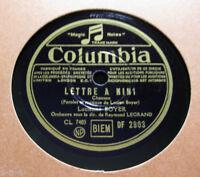 Lucienne Boyer Legrand - Lettre a Mini / C'est mon quartier COLUMBIA (1289)