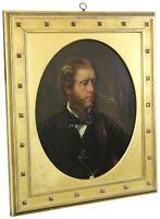 "Antique Winsor Newton 19th C. English Oil Portrait Painting Young Man London 33"""