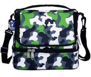 Wildkin Digital Camo Military Double Decker Lunch Bag Brand NEW Sealed