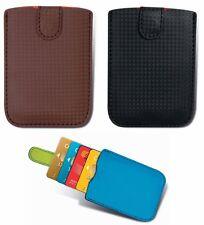 Porta carte di credito a quattro posti, chiusura con bottone magnetico 3 colori