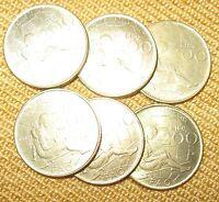 Lotto di 6 Monete Repubblica Italiana £ 200 FAO / Montessori- n  994