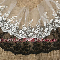 15cm,1yard Embroidered Tulle lace trim Ribbon for dress veil Sewing crafts FP35A