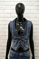 Giacca Jeans GUESS Donna Taglia XS Maglia Giubbino Giubbotto Jacket Woman Blu