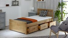 Solid Wood Amani Children's Waxed Mission Bed With 3 Drawers Choice of Matts None