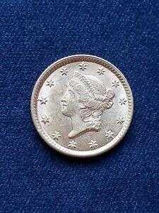 1854 Gold Dollar, $1 Gold Liberty Type 1, Sharp Gem, Mint luster