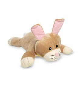 (Great for Easter)Melissa & Doug Cuddle Bunny Jumbo Plush Stuffed Animal Pillow
