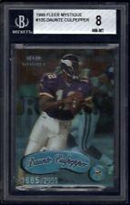 DAUNTE CULPEPPER Graded BGS 8 Rookie Card #/2000 1999 Fleer Mystique Vikings UCF