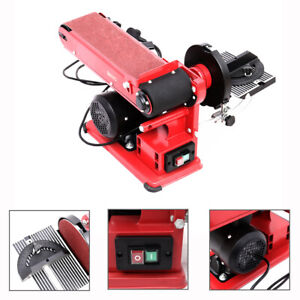 Heavy Duty Bench Belt Disc Sander Adjustable Electric Mitre Sanding 230V 375W