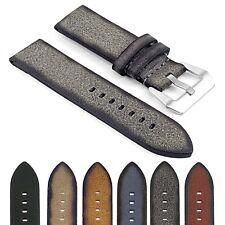DASSARI Opus Thick Vintage Italian Leather Mens Watch Band Strap