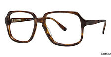 Marchon Blue Ribbon 5 Mens large square Brown Eyeglasses Size 57mm