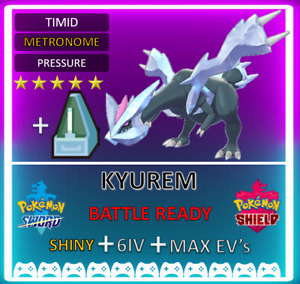 Pokemon Sword & Shield Shiny 6IV Kyurem! MAX EV 6IV! BRAND NEW! Battle Ready!