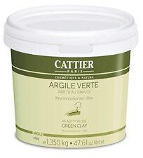 Cattier Argile Verte Prête à l'Emploi Pot 1,350 kg Masque Purifiant Visage Pea