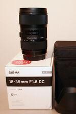 Sigma dc 18-35 mm f/1.8 apo tipo ASP HSM lente para Sony Alpha nuevo con factura
