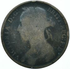1891 ONE PENNY GB UK QUEEN VICTORIA BEAUTIFUL COLLECTIBLE COIN      #WT31305