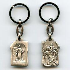 Wunderbare Medaille Schlüsselanhänger Christophorus Maria Metall 8,5 cm SAN 8001