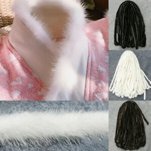 Mink Fur Ribbon Tape Furry Fluffy Trim Clothes Accessories Sewing Craft For Coat