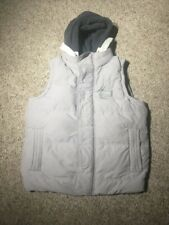 SuperDry Academy Men Vest Jacket Size Medium Down Filled Gray Hooded