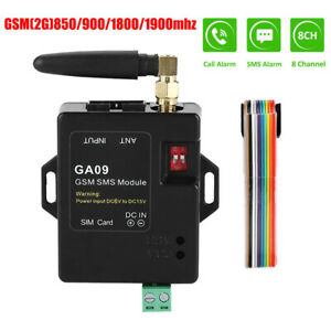 GA09 GSM 2G Alarm System High Quality 8 Channel SMS Calling Home Security Alert