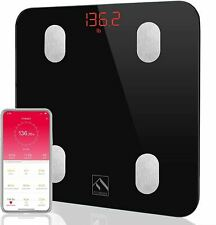 FITINDEX Bluetooth Body Fat Scale, Smart Wireless BMI Bathroom Weight Scale Body