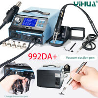 YH 992DA+ 220V Soldering Station Repair Board Hot Air Gun Solder Iron Vacuum Pen
