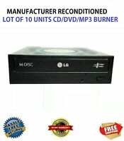 LG Internal SATA 24x Drive DVD/CD/MP3 Burner/Writer For PRO DUPLICATOR LOT OF 10