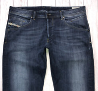 Mens DIESEL Belther Jeans W36 L30 Blue Regular Slim Tapered Wash 0814W_STRETCH