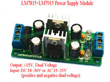 LM7815 + LM7915 ±15V Dual Voltage Regulator Rectifier Bridge Power Supply Module