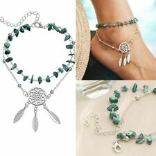 Fashion Chic Turquoise Boho Ethnic Anklets Dream catcher Pendant Foot Chain