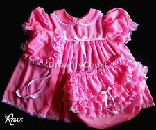 ADULT SISSY BABY CHIFFON DRESS~ BABY PLASTIC LINING