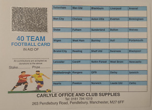 Colour Football Scratch Cards Fund Raising Charity Event 40 Team  #BargainTrend