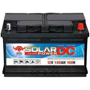 Solarbatterie 12V 100Ah BIG Versorgung Wohnmobil Boot Wohnwagen Camping Batterie