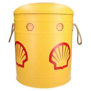 Small Shell Oil Drum Nesting Padded Seat / Foot Stool Storage Bins Workshop
