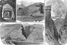 INDIA. Chapper Rift on the Quetta railway. Tunnel; Manghi End; Dargi, 1886