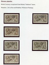 "Morocco Agencies/British Levant SUPERB 1914-1934 MH/used opt. GB ""Seahorses"" lot"