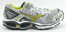 WOMENS MIZUNO WAVE CREATION 11 RUNNING SHOES SIZE 10 SILVER WHITE YELLOW GRAY