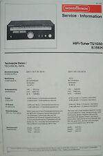 NORDMENDE - HiFi-Tuner TU 1050 9.156 H - Service Information - B2570