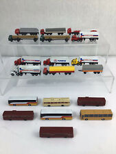 More details for quantity n gauge road vehicles hgv trucks lorries coaches for model railway #634