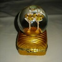 Rare RADIO CITY ROCKETTES Snow Globe Trinket Box