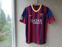 Barcelona Home football shirt 2013/2014 Jersey Size M Nike Camiseta Soccer