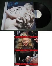 """MADONNA signed Autographed """"TRUE BLUE"""" VINYL ALBUM LP - PROOF - Singer COA"""