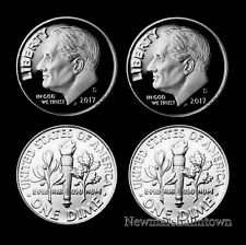 2017 P+D+S+S  Roosevelt Dime Silver Mint Proof Set ~ PD Coins from Bank Rolls