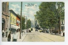 Morgantown WV High Street Antique PC Cars Boys ca. 1910