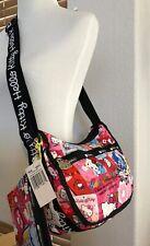 LeSportsac Hello Kitty Shoulder Hobo Bag Pouch Gray 7520 G631 New P-1