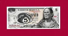 Beautiful Mexican Unc Five Pesos 1970s Banknote Josefa Ortiz de Dominguez