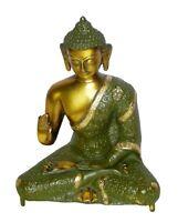 "Buddha Statue Brass Handmade Budha Figurines Sculpture Figure Home Decor Idol 8"""