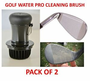 GOLF CLUB CLEANING BRUSH WATER DISPENSING SOFT BRISTLE PRO CLEANER 2 PACK